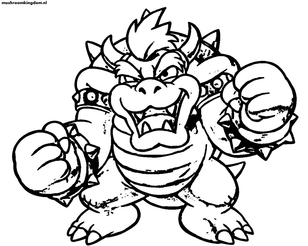 Free Coloring Pages Of Bowser Mask Bowser Coloring Pages